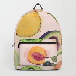 seamless   pattern with fresh fruits . Endless texture Backpack