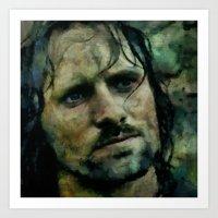 aragorn Art Prints featuring Aragorn  by janice maclellan