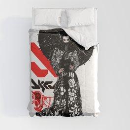 Japanese Illustration Fine Art Cyberpunk Vaporwave Style  Comforters