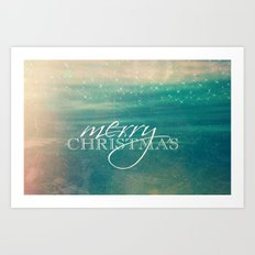 Merry Christmas Fairytale Design Art Print