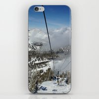 skiing iPhone & iPod Skins featuring Skiing by Bryden McDonald