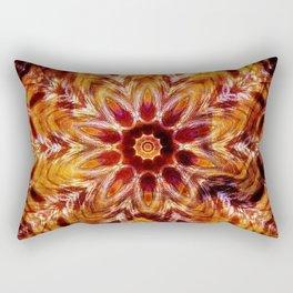 Autumn Colors Kaleidoscope Mandala Fashion Design Rectangular Pillow