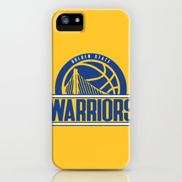 Warriors vintage basketball logo iPhone Case
