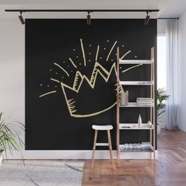 proud crown (gold/black) Wall Mural