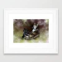 kittens Framed Art Prints featuring Kittens by Julie Hoddinott
