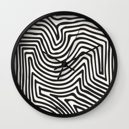 Abstract Line Art, Black And White Art, Abstract Art Print, Minimalist Poster, Abstract, Abstract Pr Wall Clock
