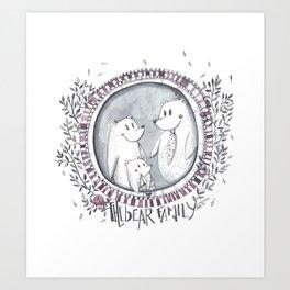 3 little bears Art Print