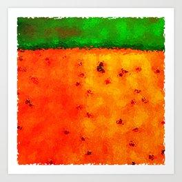 Orange Rain Field Art Print