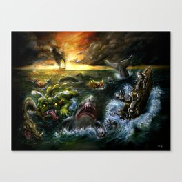 Plight of the Seabots Canvas Print
