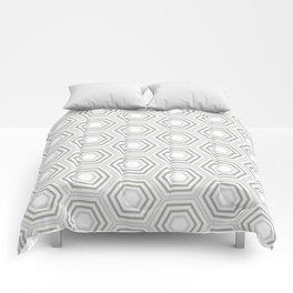 Silver Hexagon Mix Match Pattern Comforters