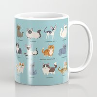cats Mugs featuring Cats! by DoggieDrawings