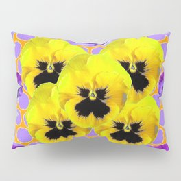 YELLOW & PURPLE SPRING PANSIES ART Pillow Sham
