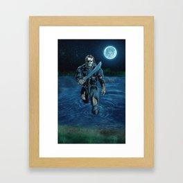 Hockey Masked Killer Framed Art Print