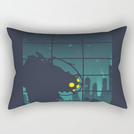 bioshock big daddy Rectangular Pillow