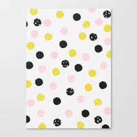 polka dot Canvas Prints featuring Polka Dot  by Naomi Hadfield