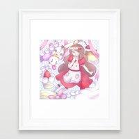 bee and puppycat Framed Art Prints featuring Bee & puppycat ver 2 by Kurodoj
