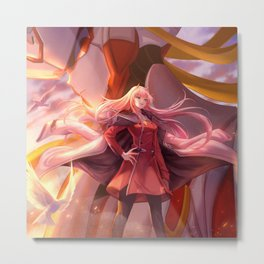 Zero Two (Darling in the FranXX) Metal Print