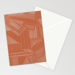 Mud Cloth / Orange Stationery Cards