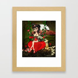 Candy Apple Love Gothic Lolita Digital Art  Framed Art Print