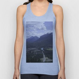 Town of Banff from above Unisex Tank Top