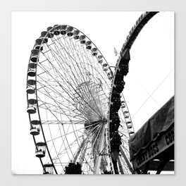 At the Fair: Round and Round Canvas Print