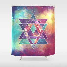 Sacred Geometry (Connection) Shower Curtain