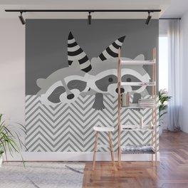 Raccoons Wall Mural