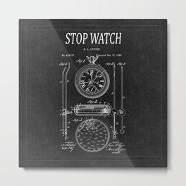 Stopwatch Patent 2 Metal Print