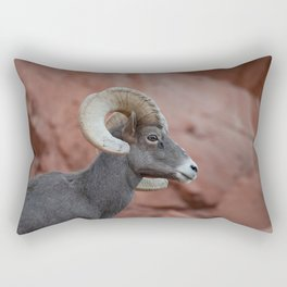 Desert Bighorn, Valley of Fire - II Rectangular Pillow