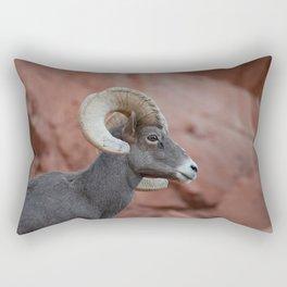 Desert Bighorn, Valley of Fire - II Rectangular Pillow