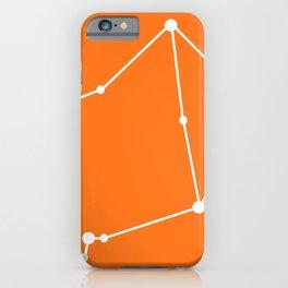 Libra (White & Orange) iPhone Case
