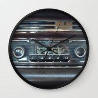 mercedes Wall Clocks featuring Vintage Radio Becker Europa by Premium