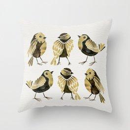 24-Karat Goldfinches Throw Pillow