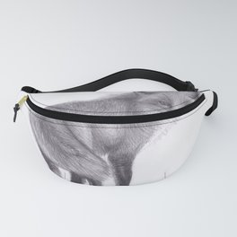 Red Fox Looking Back - Drawing Pencil Sketch Artwork Fanny Pack