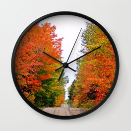 Rolling Through the Hills of Autumn Wall Clock