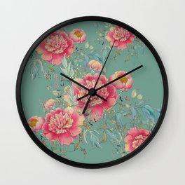 tender gipsy paeonia Wall Clock