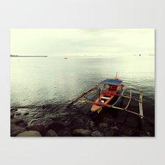 Boat in Manila Bay Canvas Print
