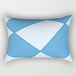 Geometric abstract - blue. Rectangular Pillow