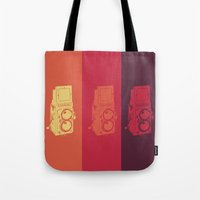 camera Tote Bags featuring Camera. by Tuky Waingan