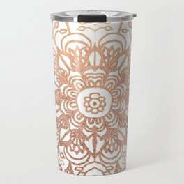 Mandala Rose-Gold Shine Travel Mug