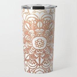 Mandala Rose-Gold Shine Travel Mug