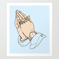 Thug Prayer Art Print
