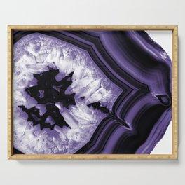 Ultra Violet Agate Chic #1 #gem #decor #art #society6 Serving Tray