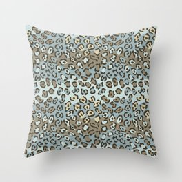 Wildcat Spots Pattern Throw Pillow