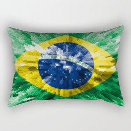 Extruded flag of Brazil Rectangular Pillow