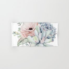 Pastel Succulents by Nature Magick Hand & Bath Towel