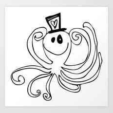 Reggie the Love Squid by Angela Lutz Art Print