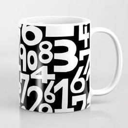 Monochrome numbers Coffee Mug