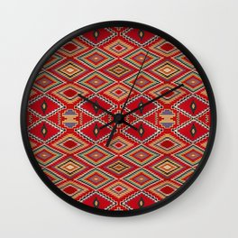 Repeating Pattern inspired by Navajo weaving patterns Wall Clock