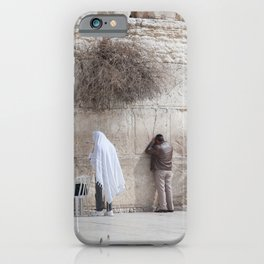 Praying at the Wailing Wall or Western Wall iPhone Case